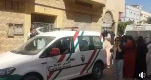 المهندس يلحق بزوجته التي ذبحت في جريمة سيدي سليمان + فيديو آخر من عين المكان