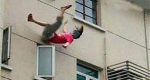 زوج يرمي زوجته من شرفة عمارة لهذا السبب