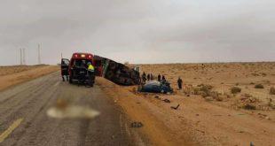حادثة سير مروعة بالطريق الساحلي بين الرابط بين جماعة بوعرك واركمان  اقليم الناظور ( صور )